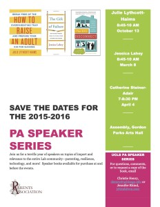 PA speaker series 20152016 flyer