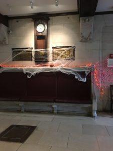 Blaine lobby cob webs