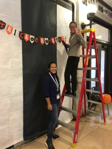 LS Council decorating for Halloween
